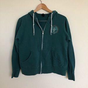 OBEY Green Zip-Up Hoodie